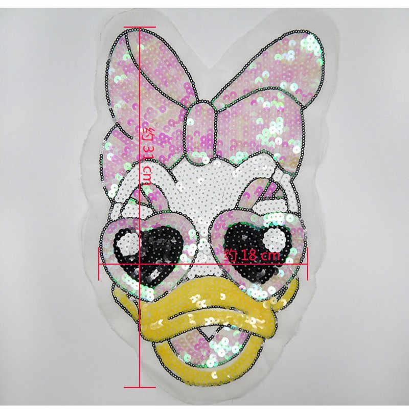 1 개 자수 철 패치 옷 만화 오리 장식 조각 다루는 의류 DIY 모티브 아플리케 무료 배송
