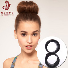 2015 New Fake Hair Hairagami Bun Extension Updo Synthetic Hair Band Accessories Chignon Hairpiece Headwear Hairpin Styling Tool