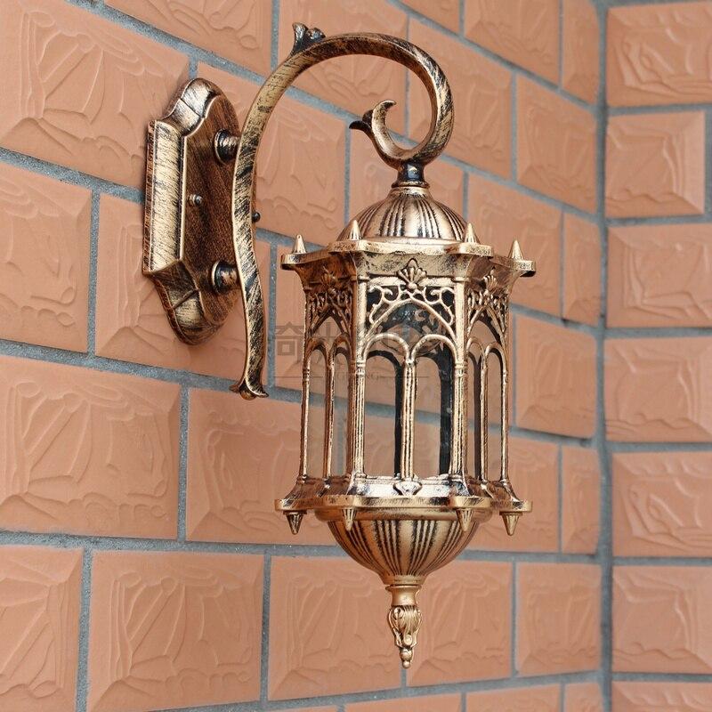 European style wall lamp waterproof outdoor lamp open courtyard lighting Les Loges Du Park Hotel corridor door lamp