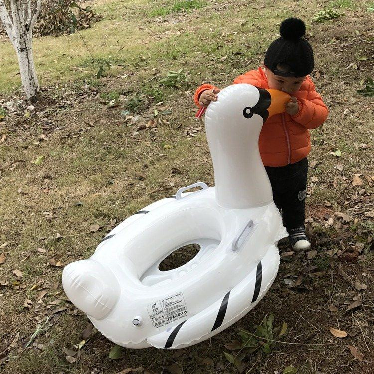 Water Toys Inflatableute Goose Boat Animal Inflatable Outdoor For Baby Play Water Toy Riding Swim Ring Pool Toy Summer Ride-on