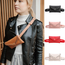 Women Chest bag Fashion Outdoor Rivets Hasp Solid Color Messenger Bag Chest Bag Waist Bag punk style solid color and rivets design women s shoulder bag