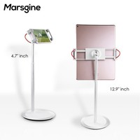 Universal Tablet Stand High Quality 12.9 Inch Aluminum Alloy Base Phone Tablet Holder Marsgine