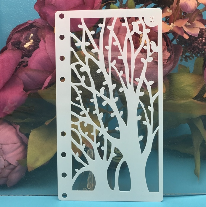 A6 Tree Leaf Bird DIY Craft Layering Stencils Wall Painting Scrapbooking Stamping Embossing Album Paper Card Template