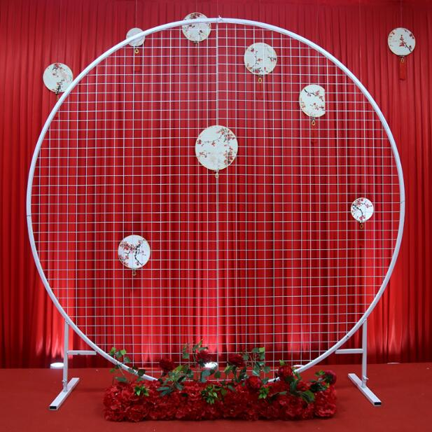 Wedding Arch Decorated With Mesh: New Wedding Circle Mesh Arch Wedding Background Mesh