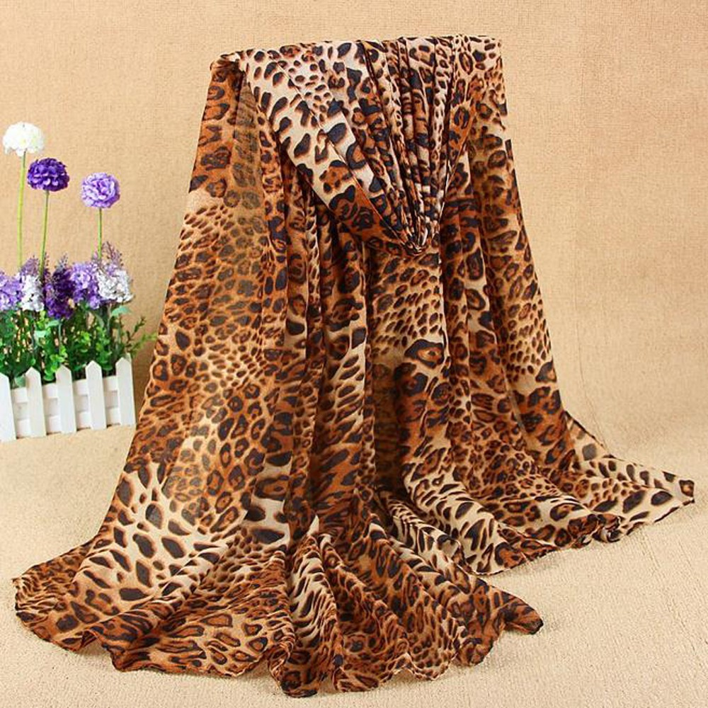 Women's New Classic Leopard Scarf Cotton And Linen Fashion Wild scarf women winter scarf echarpe femme hiver