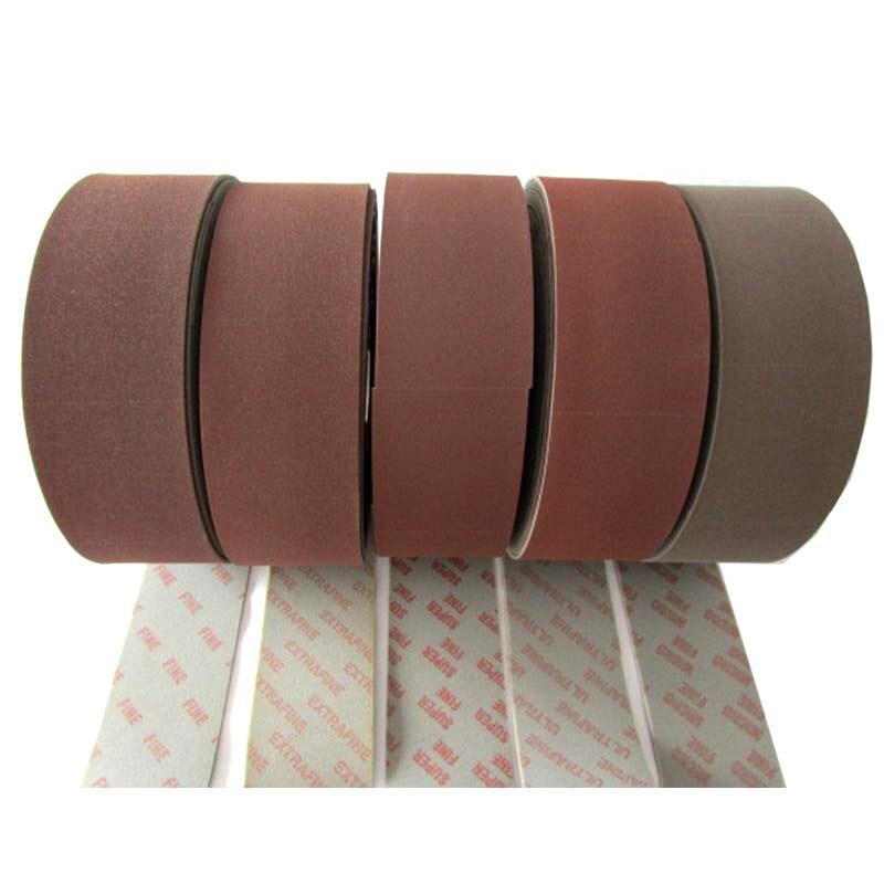200Pcs Roll Sanding Sponge Abrasive Sandpaper Roll Pack 120 100 3MM Phone Shell and Ceramic Polishing