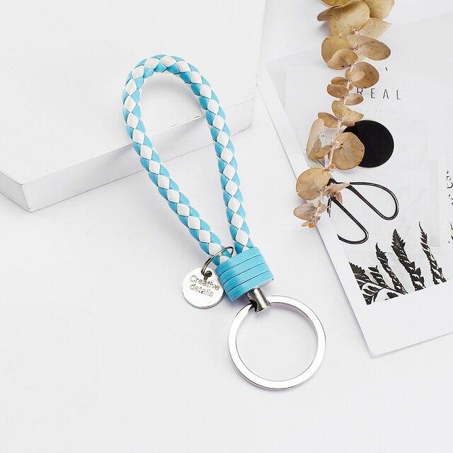 Vicney PU Leather Braided Woven Rope bts keychain DIY bag Pendant 5