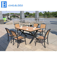 4 chairs table set outdoor patio furniture