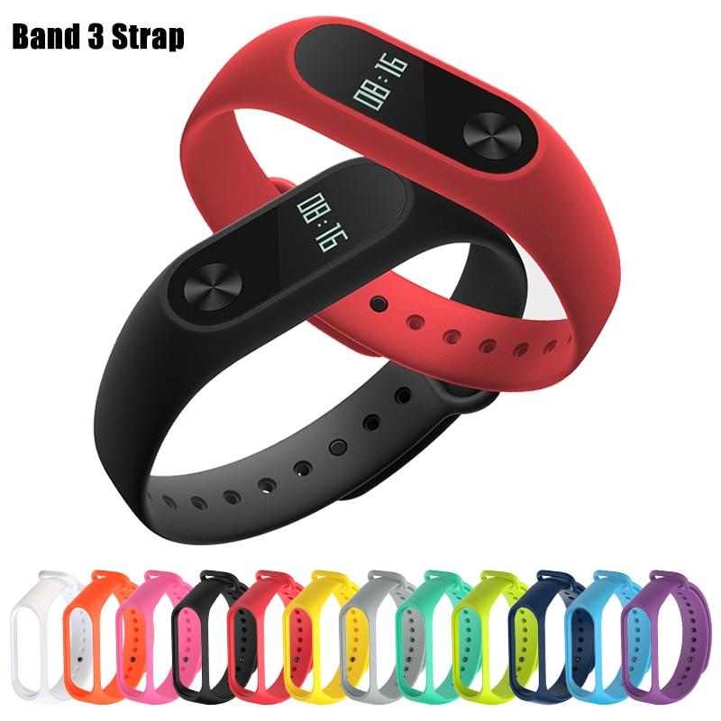 For Xiaomi Mi Band 4 Sport Strap Watch Silicone Wrist Strap On For Xiaomi Mi Band 3 Xiomi My Miband 3 M3 M4 Bracelet Accessories