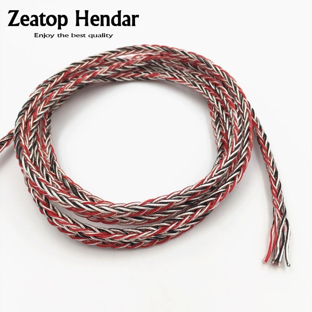 1Pcs HIFI 6N 152 Core 8 Strand Braided Wire Earphone Cable Weaving ...