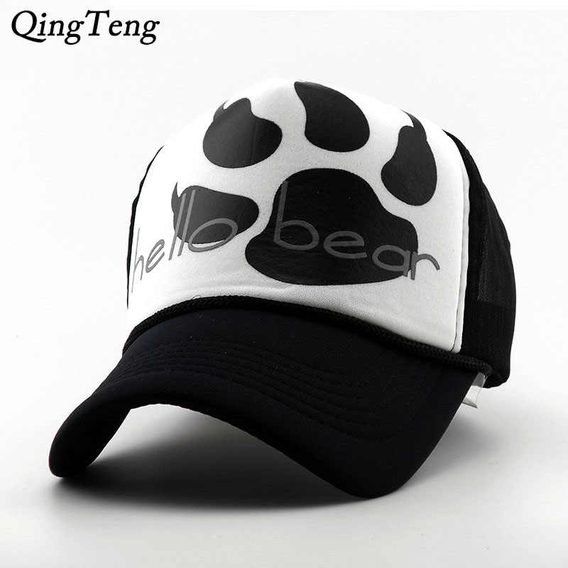 877d15dad18 Detail Feedback Questions about Brand Mesh Baseball Cap Summer Male Female  Couple Fashion Cartoon Truck Cap Net Paw Print Pattern Lady Hat Outdoor Hip  Hop ...