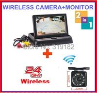 Wireless New 3 In 1 4 3 TFT LCD Car Fold Monitors Rear View Camera Reverse