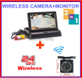 "Wireless New 3 in 1, 4.3"" TFT LCD Car fold Monitors +Rear View Camera Reverse Backup Parking Assistance+Wireless Kits"