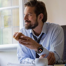 Dunkelgrau Smart Uhr waterpoof pulsmesser uhr MTK2502C smartwatch bluetooth uhr tragbare geräte für Android & ios