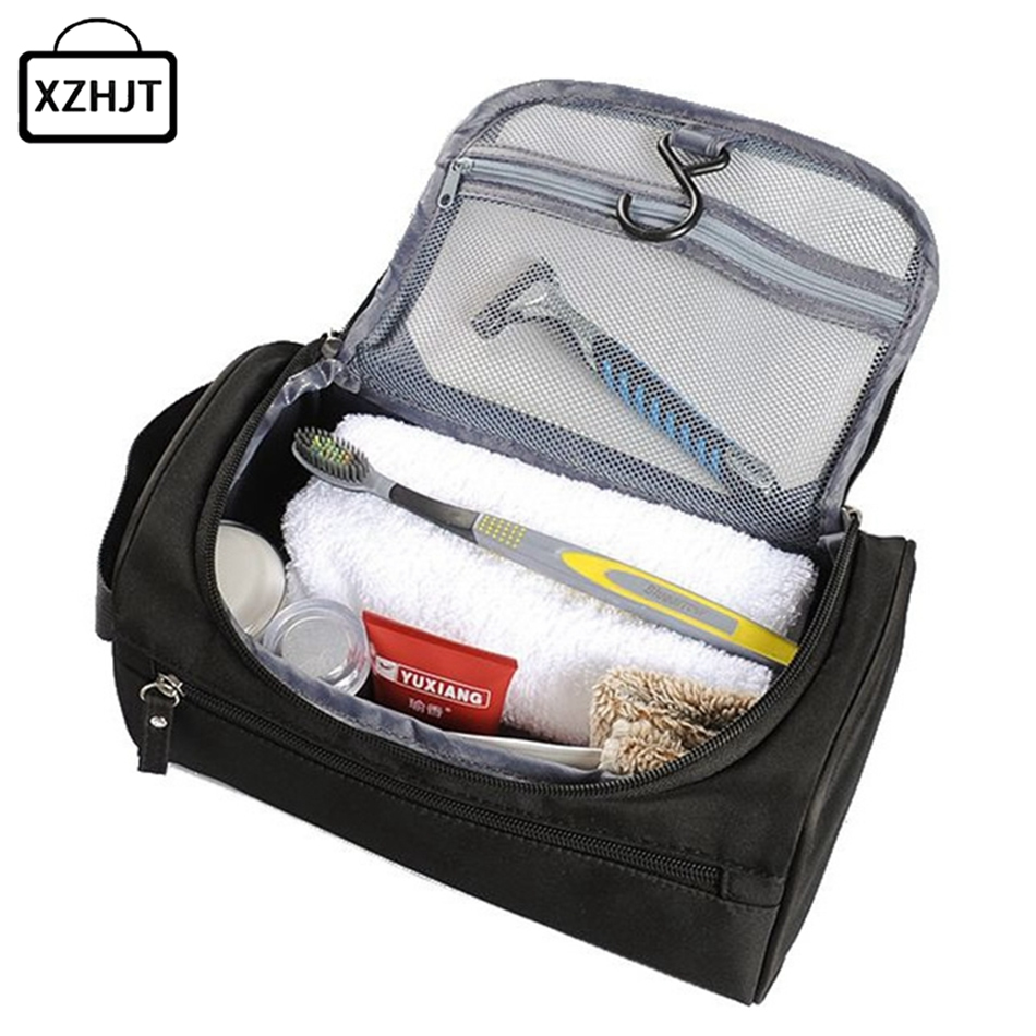 Men Travel Cosmetic Bag Functional Hanging Zipper Makeup Case Necessaries Organizer Storage Pouch Toiletry Make Up Wash Bag multifunctional women makeup storage bag travel pouch hanging toiletry organizer
