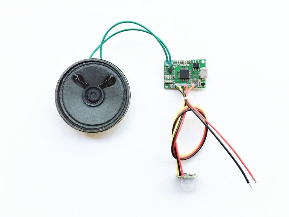 Accessories & Parts Radient Pir Motion Sensor Sound Module Pcba Pir Motion Activated Audio Player Module Sound Unit
