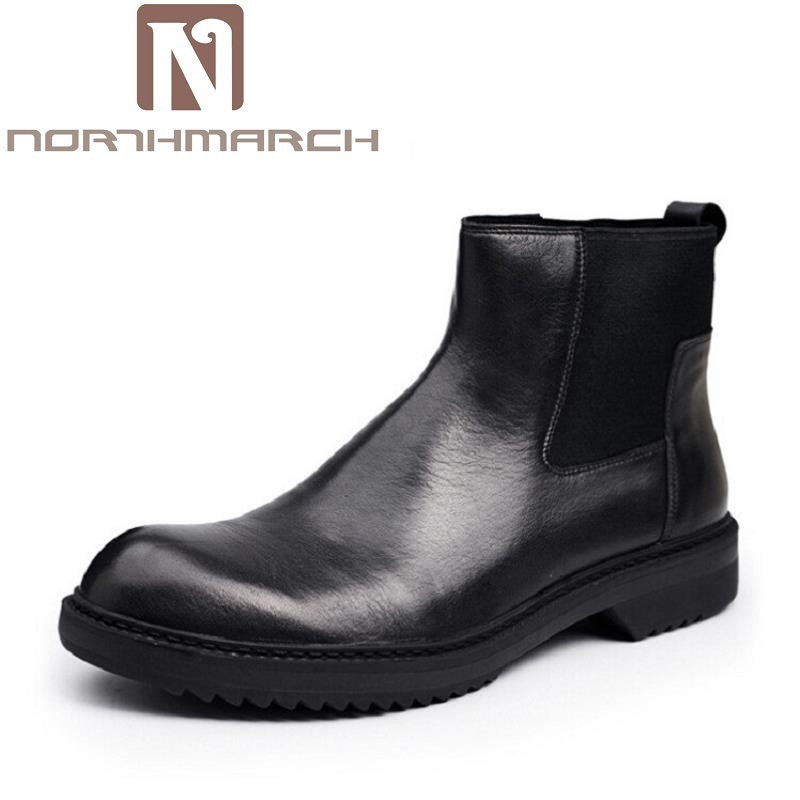 NORTHMARCH Brand Men Boots Top Quality Handsome Comfortable Retro Leather Boots Men British Style Casual Shoes Chelsea Boots men oxfords top quality handsome comfortable meijiana brand men wedding shoes