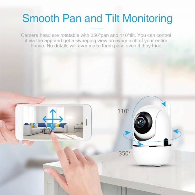 FREDI 1080P Cloud IP Camera Home Security Surveillance Camera Auto Tracking Network WiFi Camera Wireless CCTV Camera YCC365 3