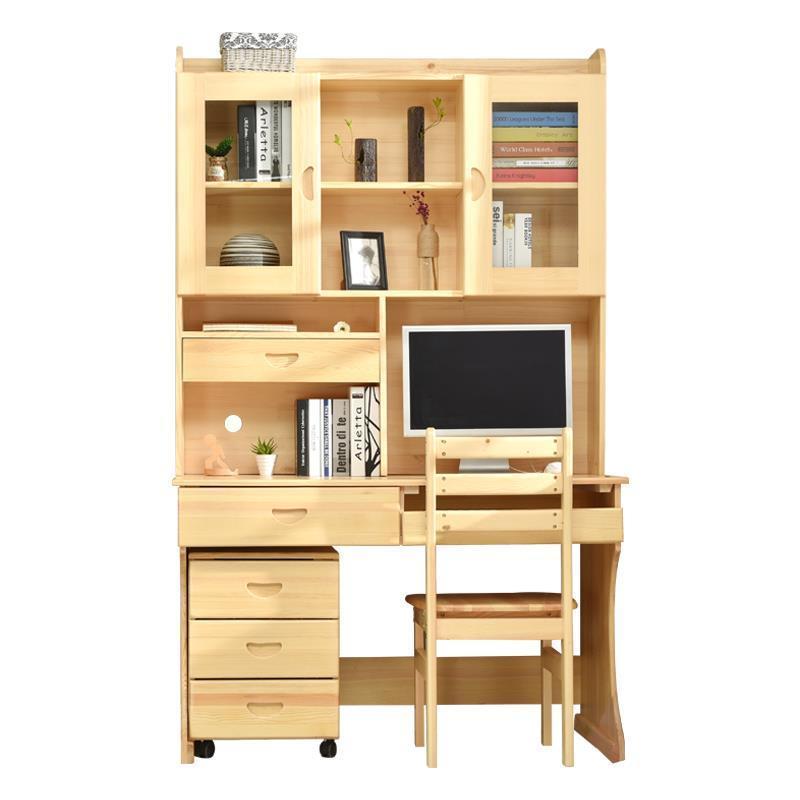 купить Furniture Scrivania Bed Tray Tafelkleed Escritorio Biurko Tisch Tafel Vintage Wooden Desk Laptop Stand Mesa Table With Bookshelf по цене 38352.63 рублей
