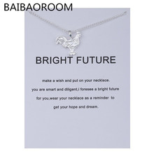 Have Card Fashion Jewelry Animal Ornaments Zodiac Logo Alloy Clavicle Pendant Short Necklace Women Gift