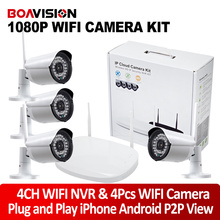 2Ch/4Ch 1080P Wifi NVR Kit With 2MP Waterproof Wireless IP Camera Outdoor Security Wireless CCTV System Plug & Play P2P View