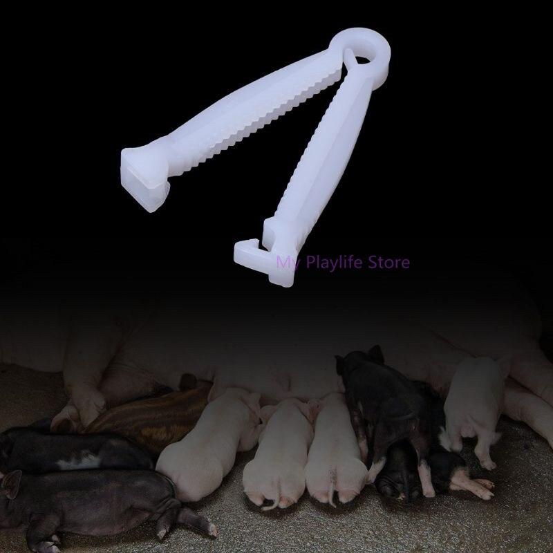 10 шт свинья пупочное клипса для кабеля зажим одноразовые щенки комплект фермы ранчо поставки Пластик зажимы C42