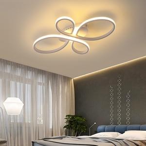 Image 3 - NEO Gleam yeni sıcak RC beyaz/kahve Modern Led tavan ışıkları oturma odası yatak odası çalışma odası için kısılabilir tavan lamba armatürleri