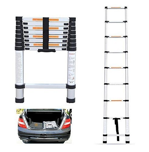 Multifunctional Retractable Telescopic Extension Ladder 6061 Thick Aluminum Folding Telescoping Laddero Household Ladder (2M)