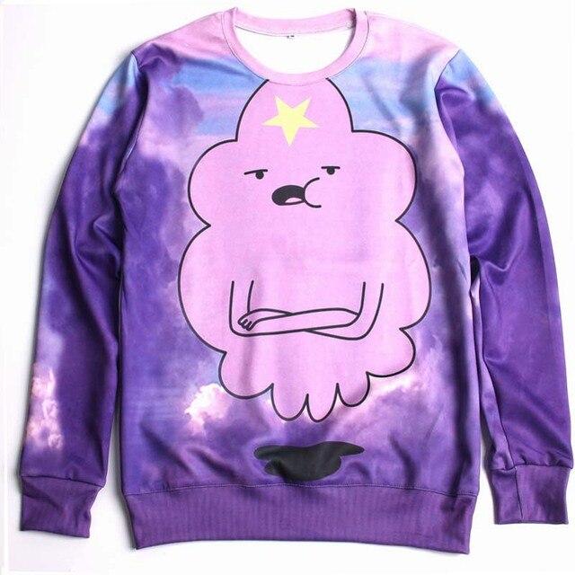 2016 Nueva Lumpy Espacio Princesa Sudadera Nube Púrpura Hermosa Sudaderas  Señora hombre Casual Sudaderas Adventure 6429e88e254