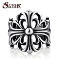 Steel soldier wholesale ring for man 316L Stainless Steel rings punk biker jewelry trendy new high quality gift BR8-030
