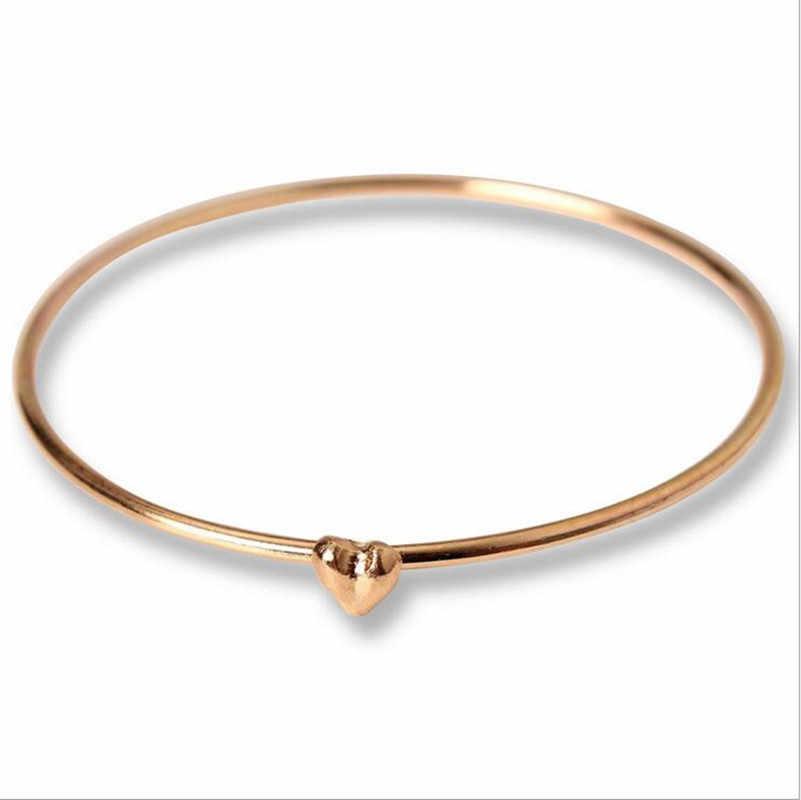 2018 אהבת לב חדש צמיד זהב תכשיטי צמידי צמידי קריסטל לנשים סיטונאית מתנות