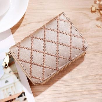 2018 Fashion Women Short Wallets PU Leather Female Purses Nubuck Card Holders Wallet Woman Small Zipper Wallet Girls Coin Purse wallet