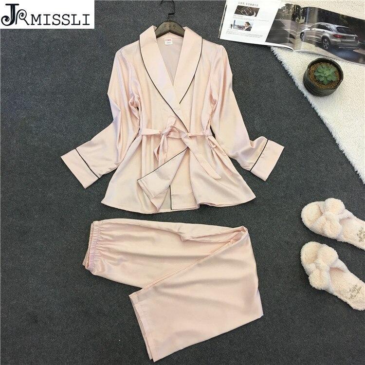 JRMISSLI 2018 Robe Sexy Bathrobe Women   Pajamas     Set   New Summer Lace Nightgown   Set   Sleepwear   Pajamas   Pijama Feminino Pyjama