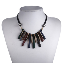 Match-Right Women Trendy Rope Chain Necklace Necklaces & Pendants Plastic Beads Necklace For Women Jewelry Accessory  SP046