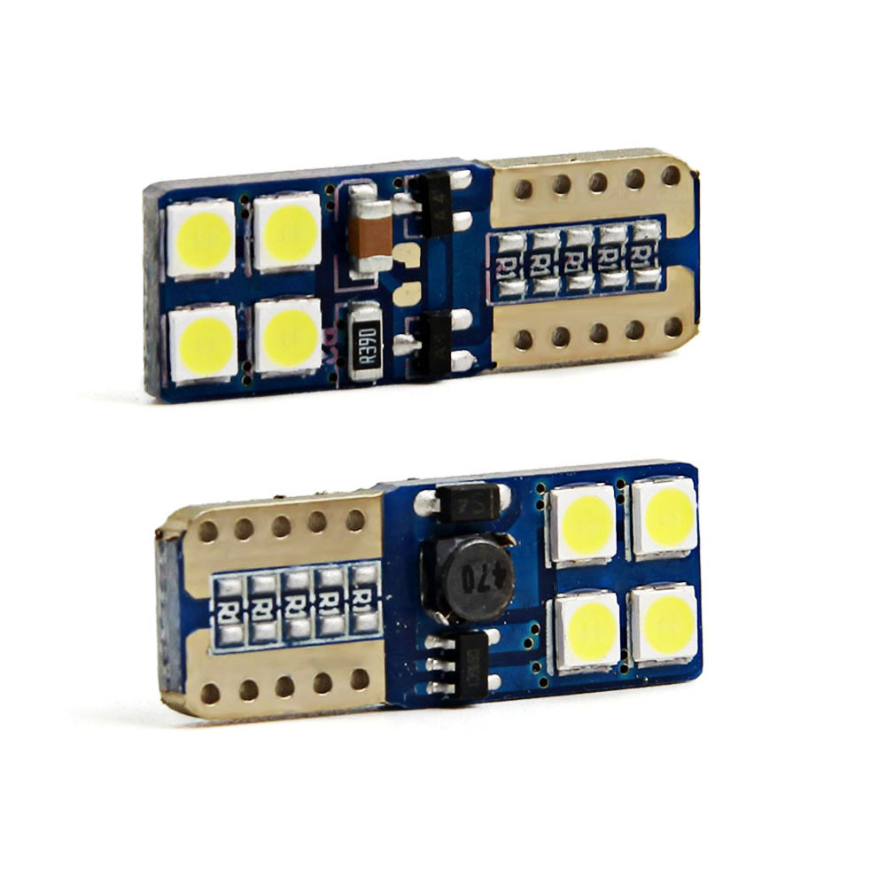 2X T10 W5W led canbus White T10 194 168 3030 Canbus 8SMD 12V NO ERROR Car Auto Bulbs Warning Signal Lamp Light