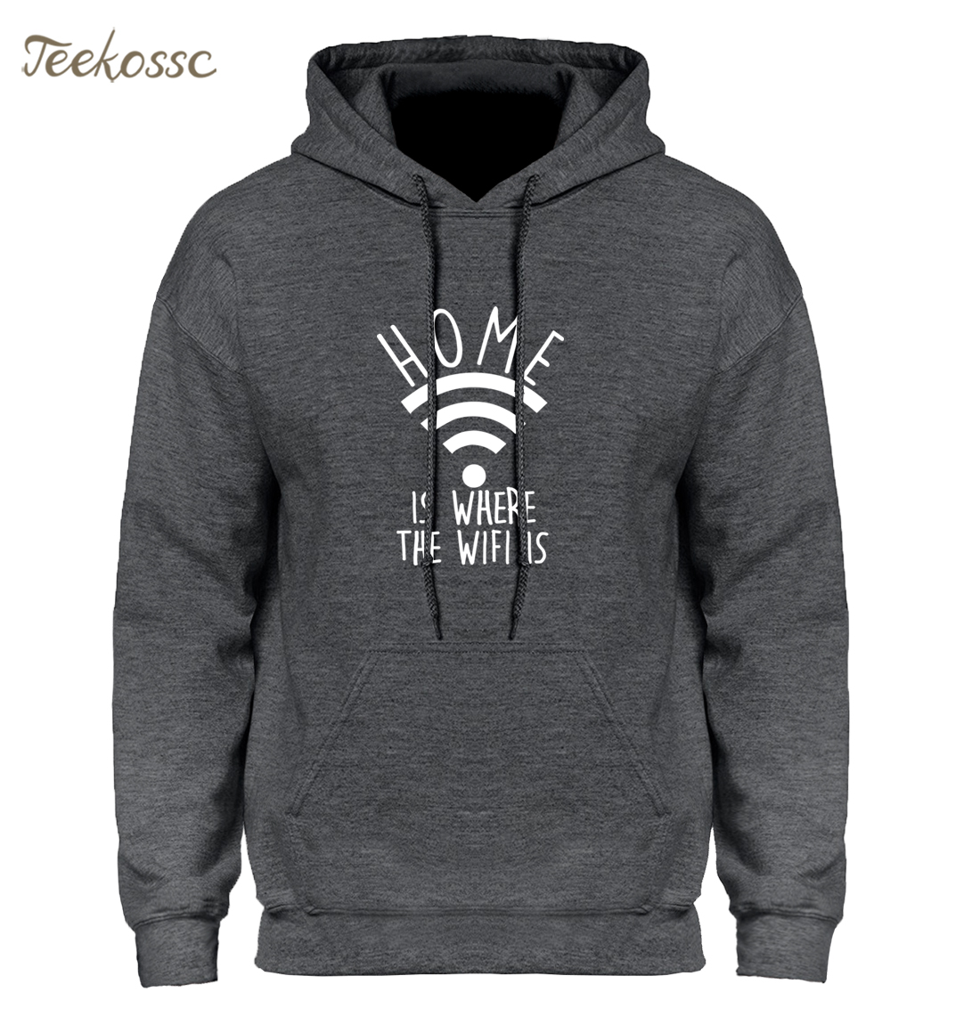 Home is Where The WiFi is Hoodie Men Funny Hoodies Mens 2018 Winter Autumn Hooded  Sweatshirt Internet Sweatshirs Brand Clothing
