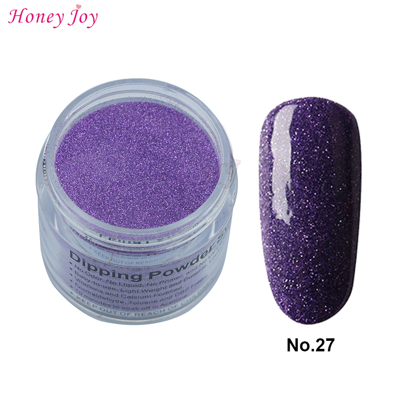 Nail Dip Powder Erfahrung: 28g/Box #27 Dark Blue Glitter Dip Powder Nail Dipping