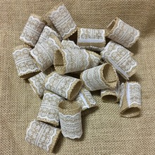 Set of 100 Wedding Napkin Rings with Lace