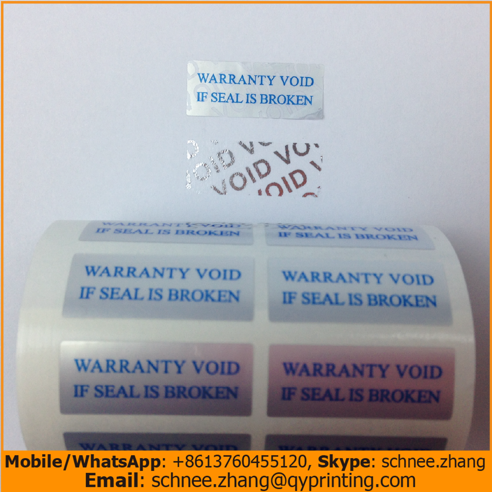 100pcs Free shipping tamper proof labels product ahesive label warranty void if seal is broken secure sticker VOID OPEN 25*10mm fragile warranty sticker shall be null and void the warranty and black and red round 0 25 cm vulnerable if mobile
