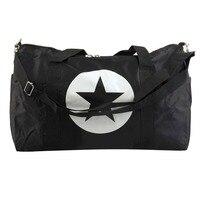 Large Five Pointed Star Nylon Material Waterproof Travel Bag Gym Bag Large Capacity Women And Men