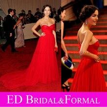Camilla Belle Kleid zu ERFÜLLT Kostüm Institut Gala Roter Teppich Promi Abendkleid Chiffon Abendkleid Vestido vermelho