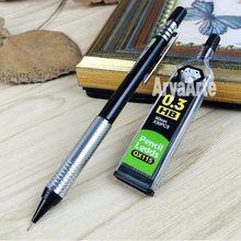 Porte-crayon mécanique en métal et plastique, fournitures de papeterie scolaire pour crayon à dessin, 0.3 0.5 0.7 0.9mm
