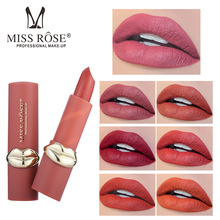 Lipstick set Make up MISS ROSE Matte long lasting waterproof Easy to wear 24 hours batom matte ruby rose transparent