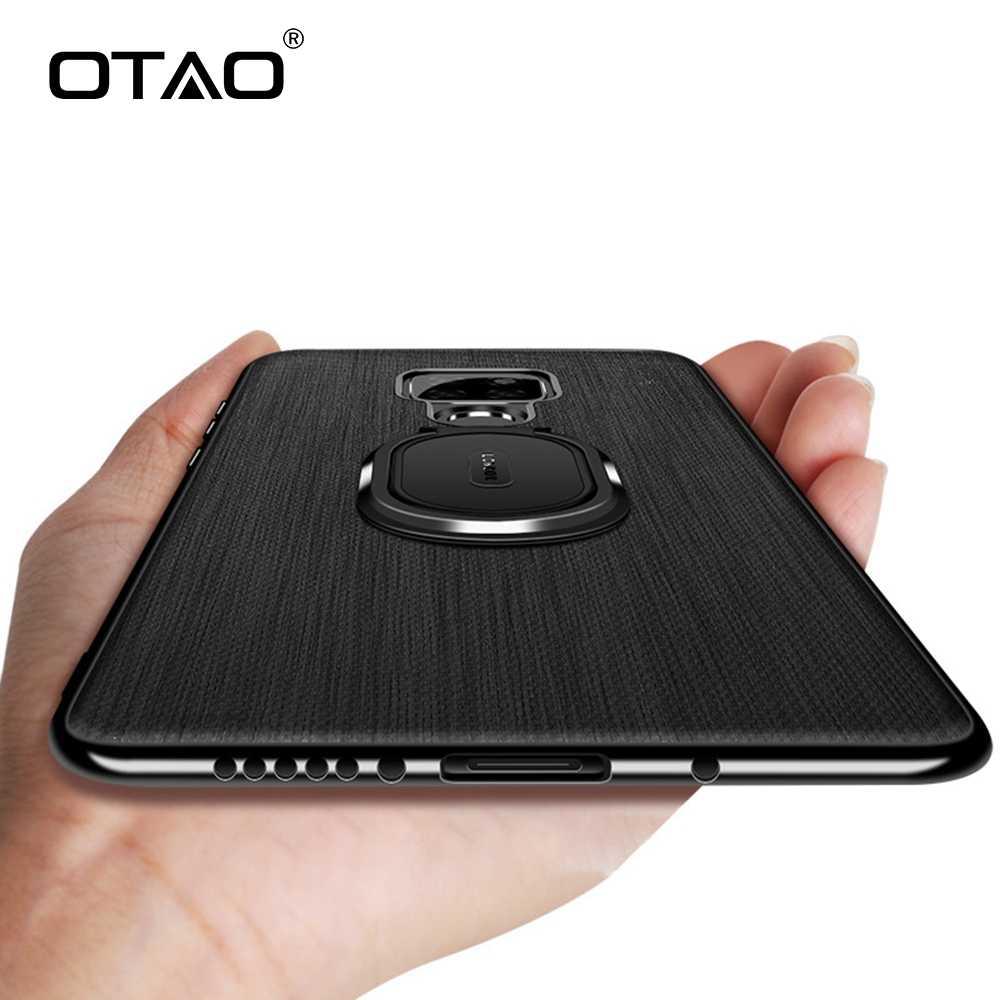 OTAO Magnetische Autohouder Ring Telefoon Case Voor Huawei Mate 20 Pro Cover Voor P20 Lite Honor 7C Nova 3i 2 3 lederen Schokbestendig Gevallen