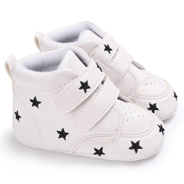 Kids Classic High Top Ankle Booties Sports Sneaker Baby Shoes Newborn  Toddler First Walker Babe PU Prewalker Running Footwear c1c9bc614553