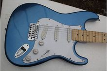 Guitarra eletrica maple Scalloped Fingerboard Vintage metal blue Yngwie Malmsteen Guitar Big Head ST Guitarra guitarra