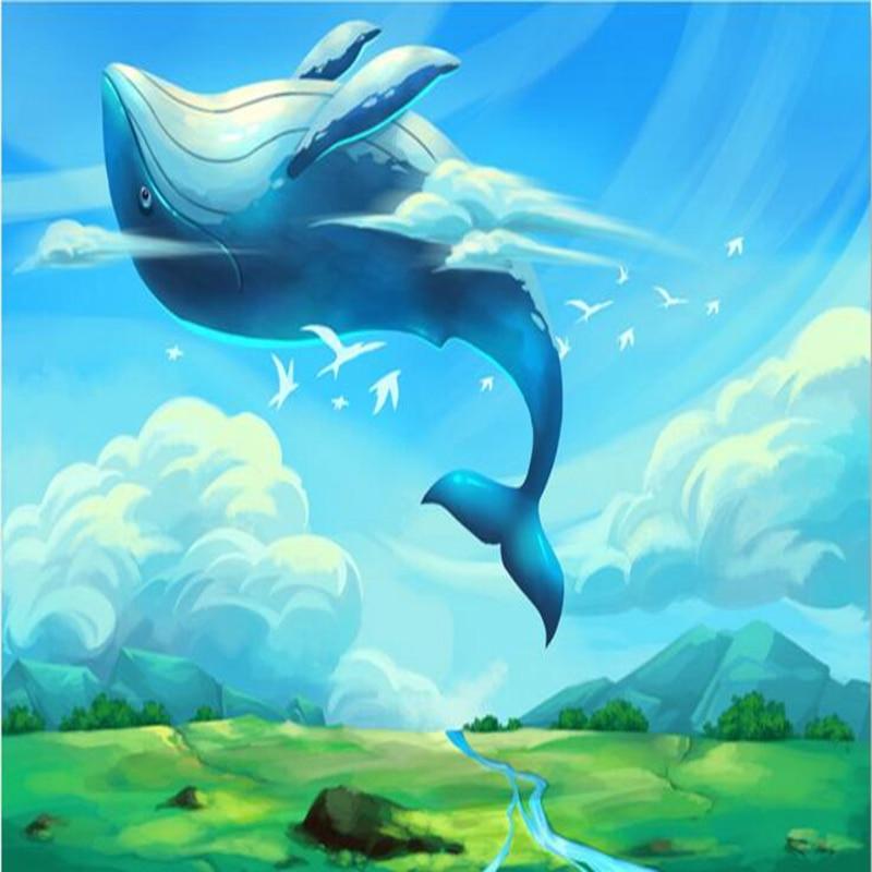 Wallpapers Youman 3d Effect Wallpaper For Walls Free Desktop Wallpaper Modern Cartoon Whale Blue Pattern Wallpaper Wall Art Idea Patterned Wallpaper Wallpaper For Wallswallpaper Pattern Aliexpress
