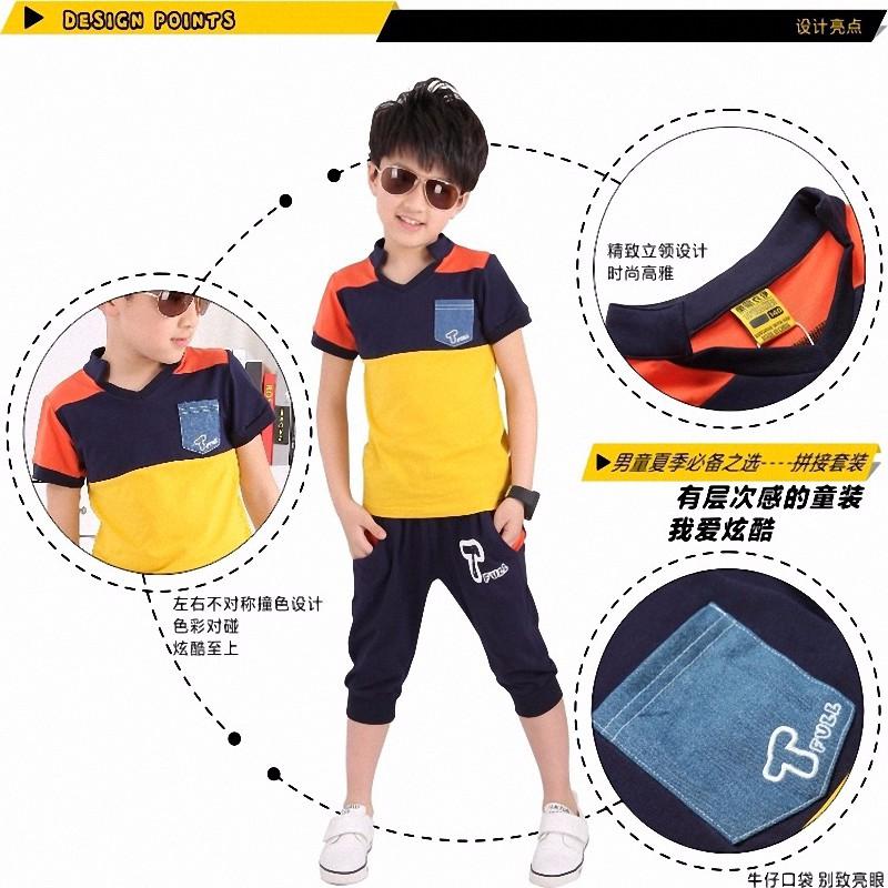 boy sport stripe clothing set (1)