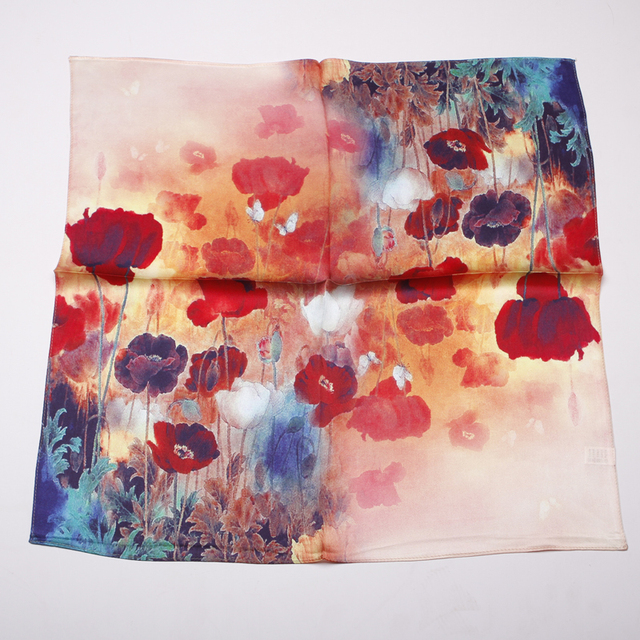 100% Pure Silk Magnificent Red Hue Scarf