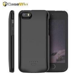 4000 мАч для iPhone SE 5 5S зарядное устройство чехол тонкий внешний аккумулятор чехол зарядка Bateria Fundas для iPhone X XS Max 6 6S 7 8 plus